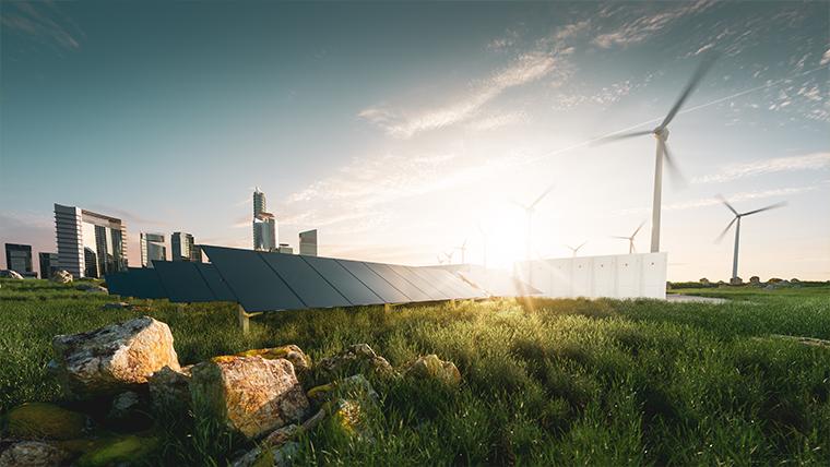 Panele słoneczne i wiatraki elektryczne - Zrównoważony rozwój – co to jest? - Velvet