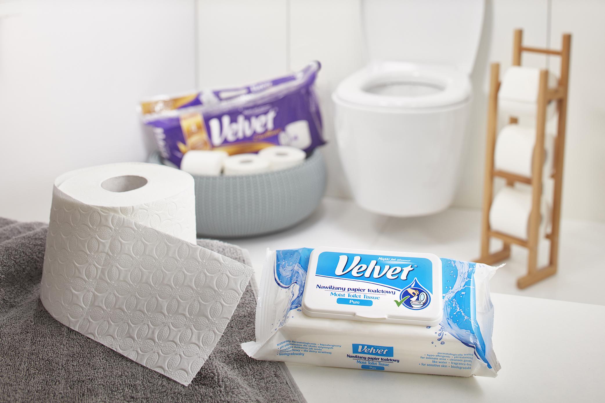 Intima nawilżany papier toaletowy Velvet