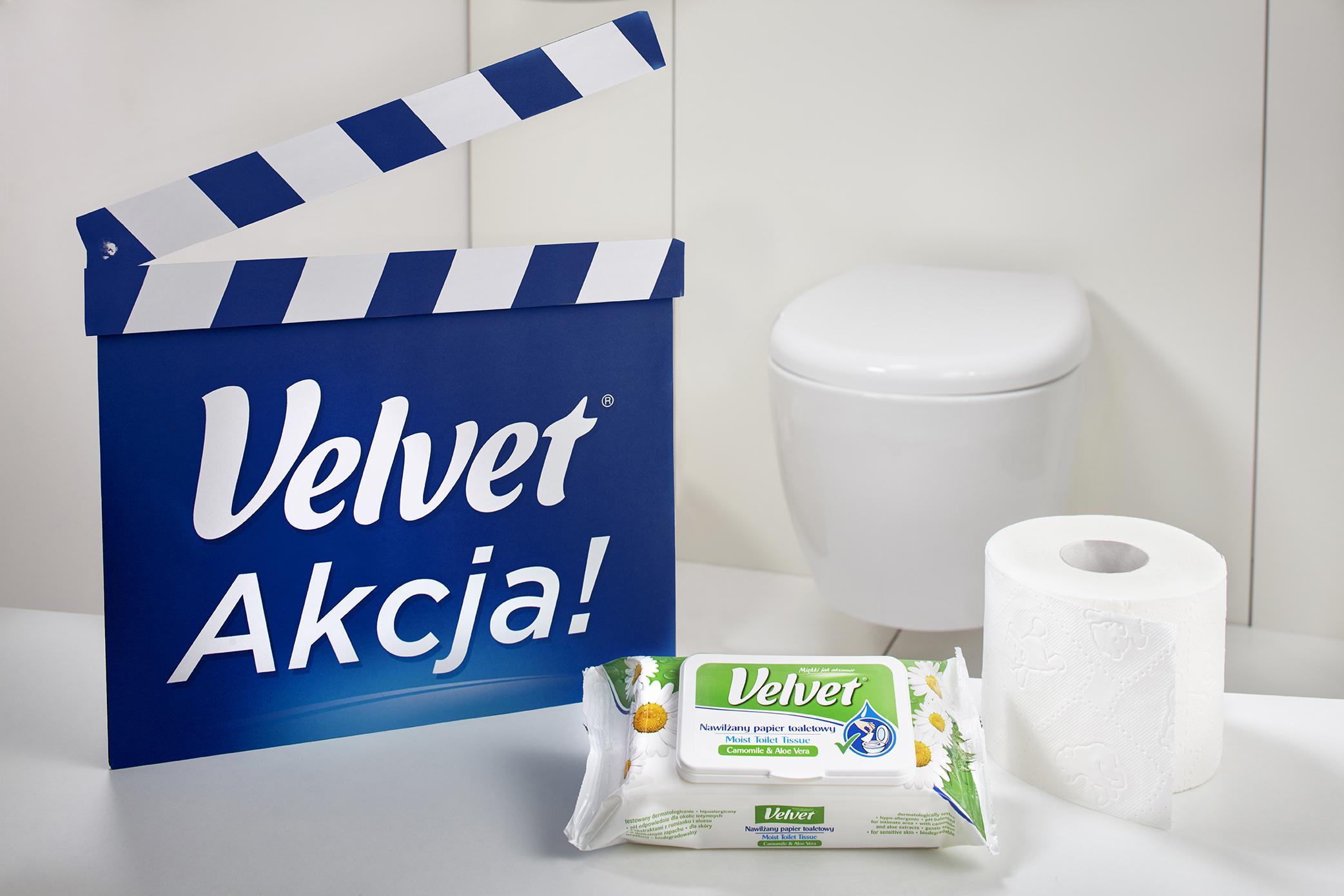 Duet Satysfakcja Velvet – Papier toaletowy i nawilżany papier toaletowy
