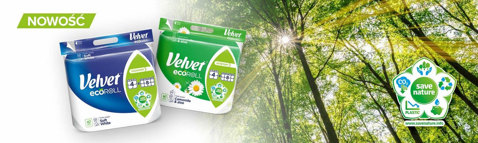 Nowy papier Velvet ecoROLL – ekologiczne i wygodne rozwiązanie do Twojej łazienki!