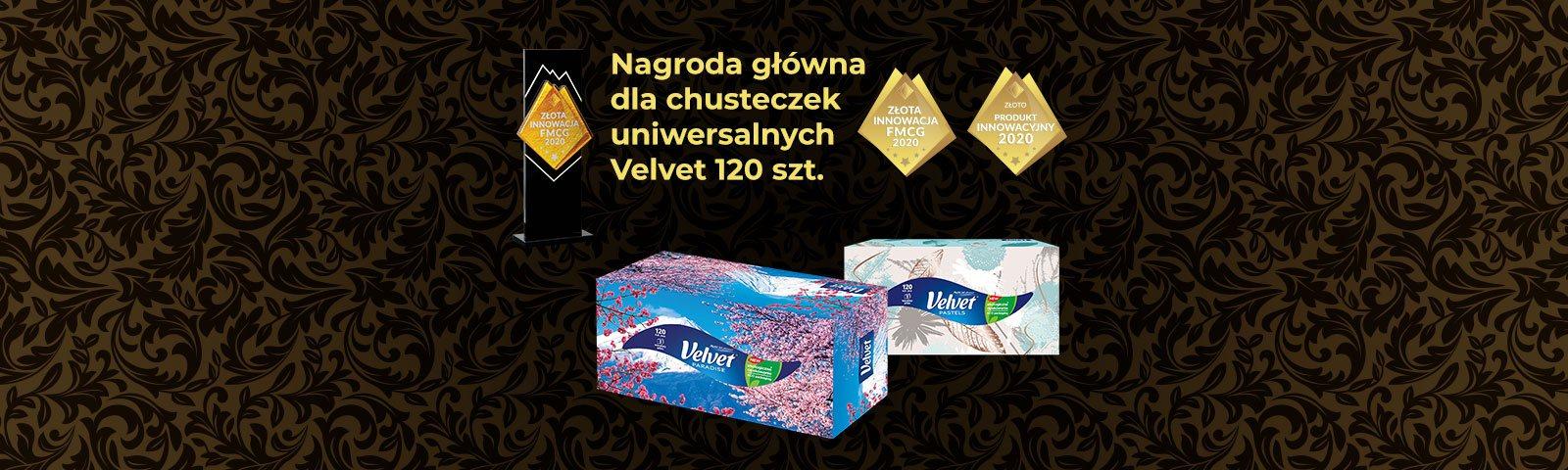 Nagroda dla chusteczek uniwersalnych Velvet 120 szt.