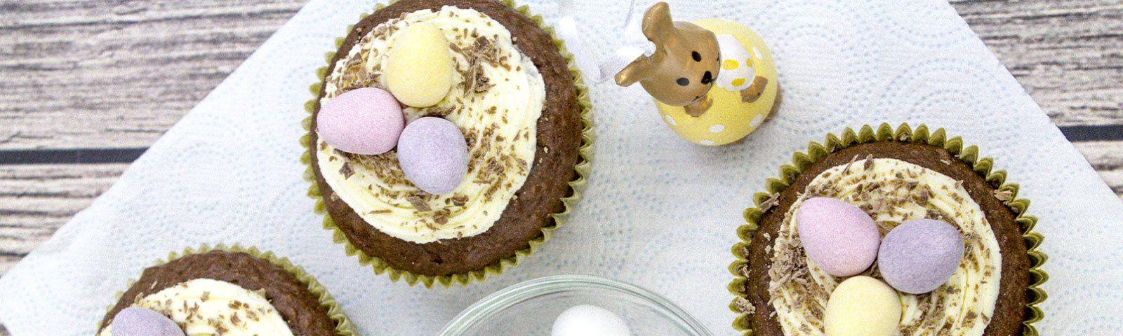 Wielkanocne muffinki czekoladowo-owsiane